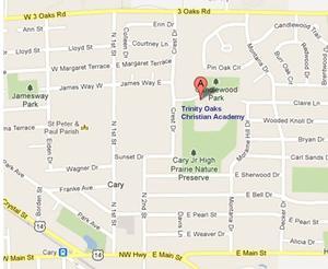 Street Map For Trinity Oaks